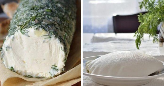 Смешав кефир со сметаной, через два дня вы получите божественно вкусный сливочный сыр!