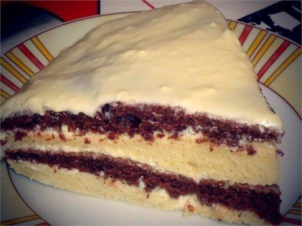 Аппетитный домашний тортик на кефире. Десерт, достойный внимания!