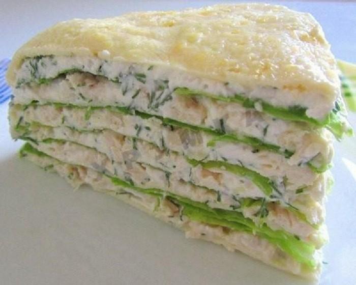 Восхитительный закусочный торт! Такого блюда из курицы вы ещё не готовили...