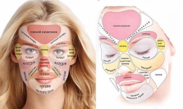 «Китайская карта лица» - ваше лицо расскажет о ваших болезнях ВСЕ!