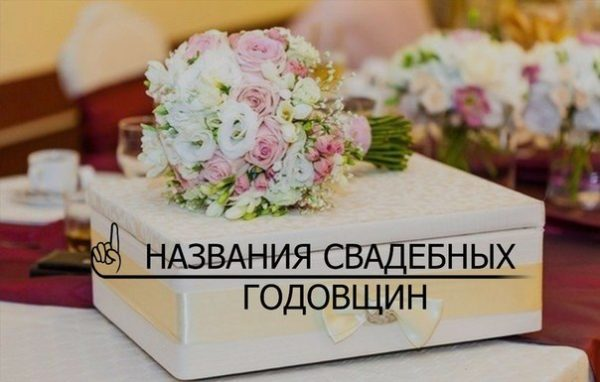 Название свадеб по годам совместной жизни и что дарят