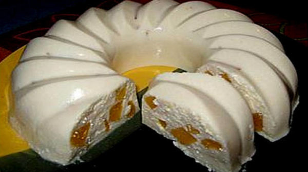 Воздушный творожный кекс с персиком без выпечки!