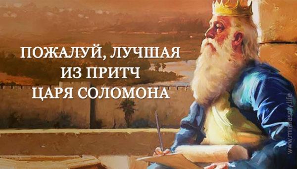 Вся мудрость мира в одной притче царя Соломона!