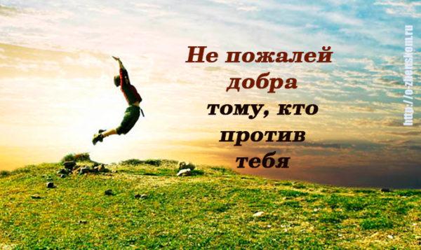 Не пожалейте добра для недругов своих. Вы лишь выиграете от этого!