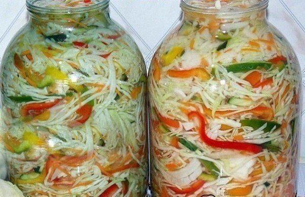 Салатики из капусты на зиму - 5 лучших рецептов!