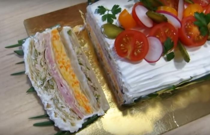 Мясной «Наполеон» - настоящий праздничный рецепт!
