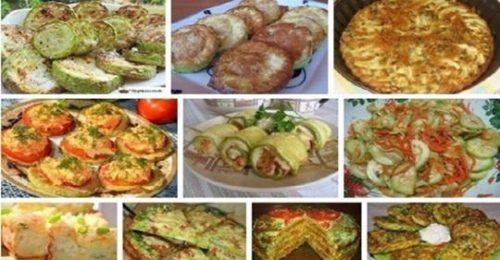 Шикарная подборка рецептов с кабачками на каждый день