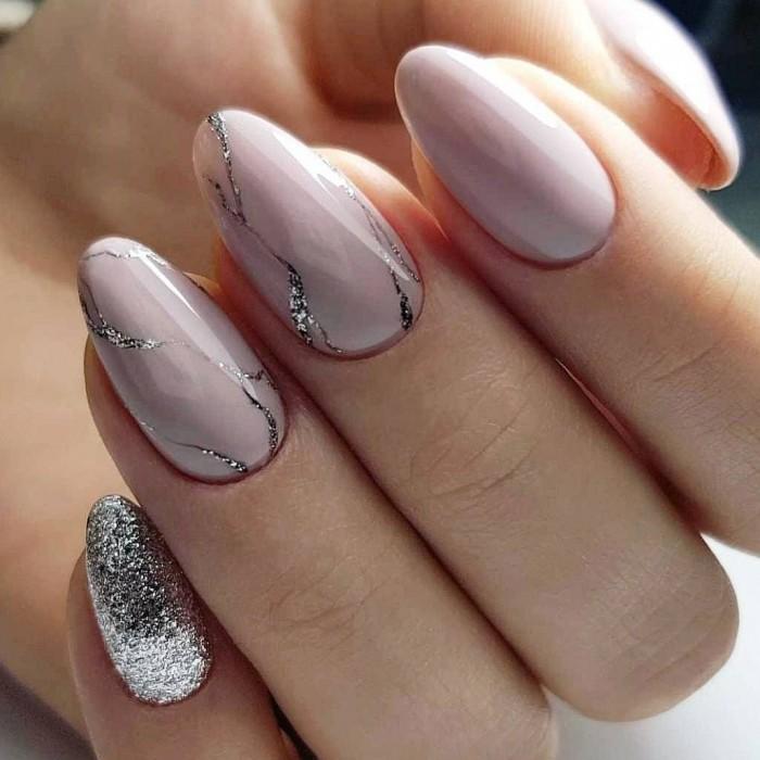 Стильный и очень красивый маникюр на овальную форму ногтей - 35 роскошных идей!