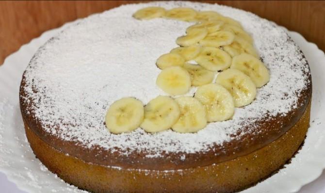 Вкуснейший банановый пирог - простой пошаговый рецепт!