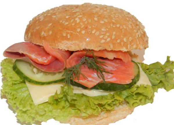 Гамбургеры малокалорийные с красной рыбой - простой, вкусный и полезный рецепт